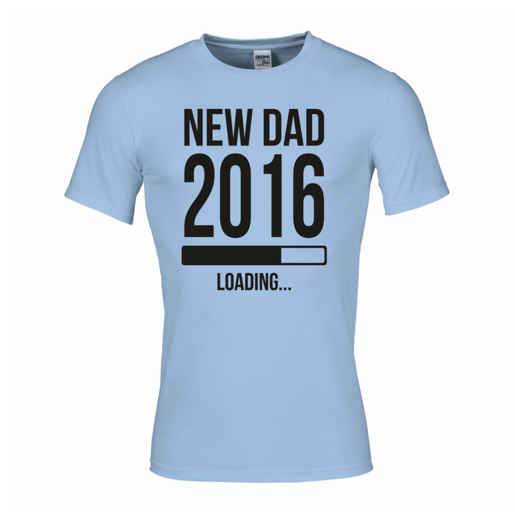 New dad 2016 loading t-shirt vaderdag
