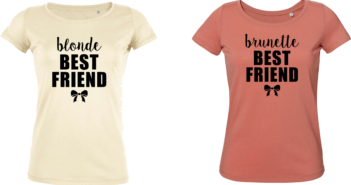 Blonde brunette best friend matching tshirt vrienden shirts bff