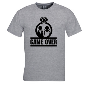 Game over t shirt vrijgezellenfeest