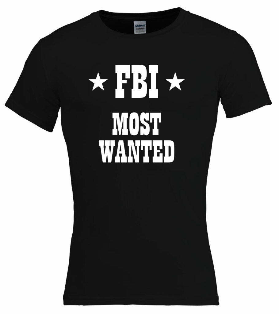 FBI most wanted t-shirt voor carnaval shirts, carnaval outfit