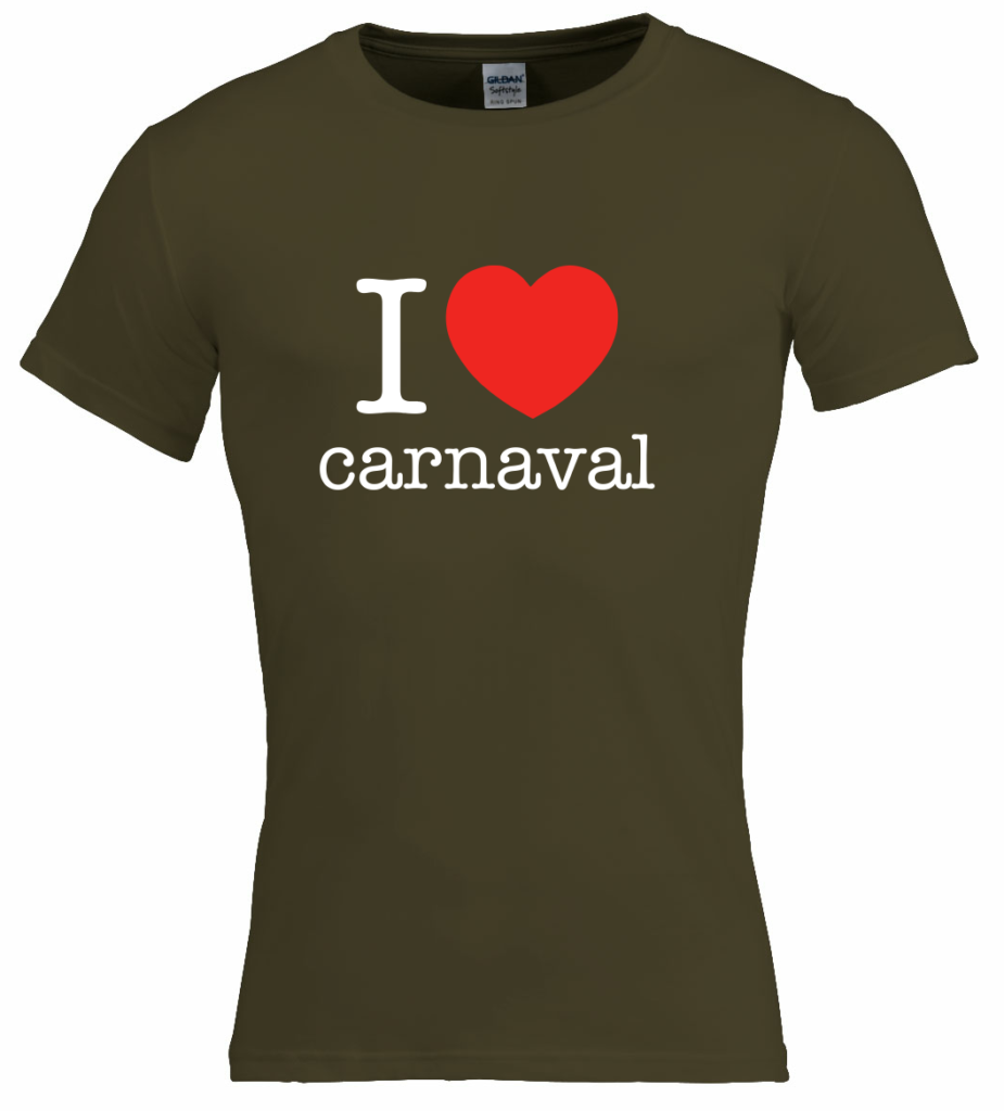 I love carnaval t-shirt voor carnaval shirts, carnaval outfit