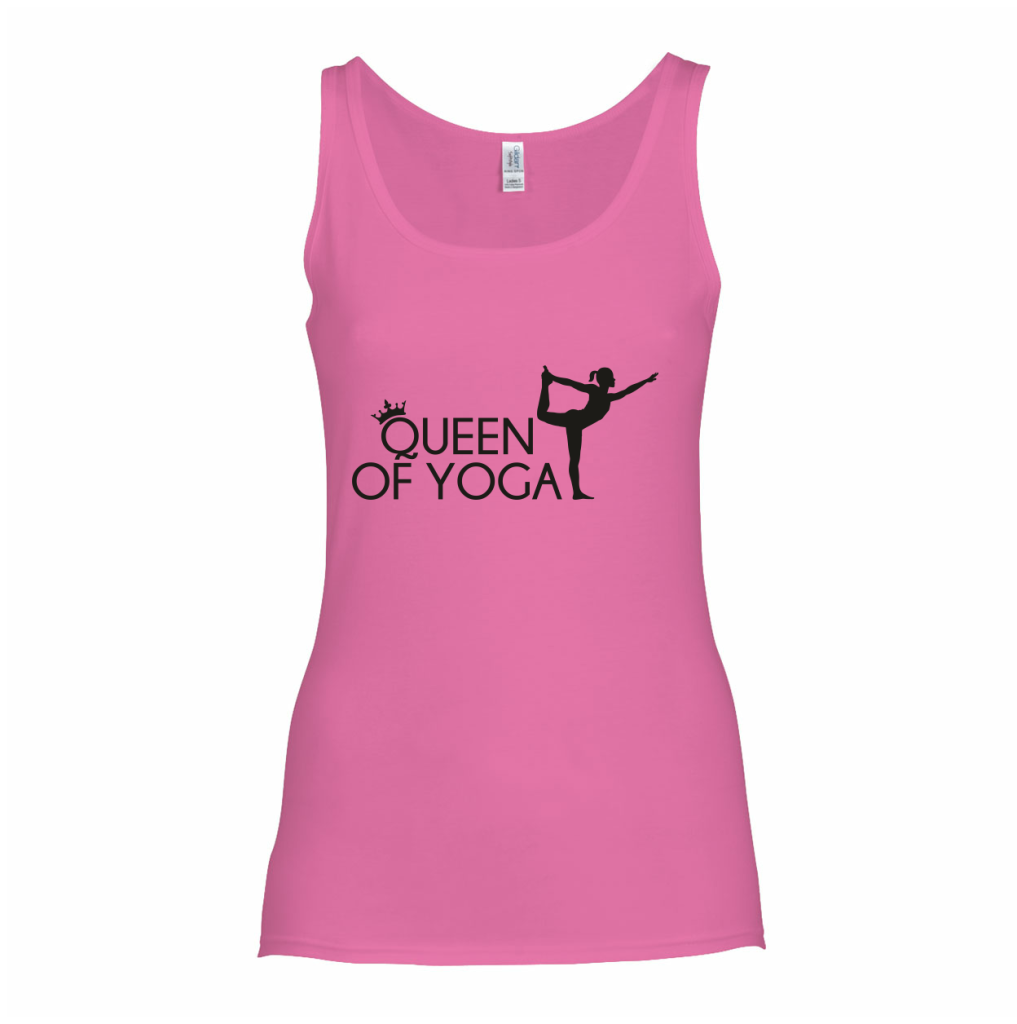 Queen of Yoga tanktop t-shirt - wereld yoga dag