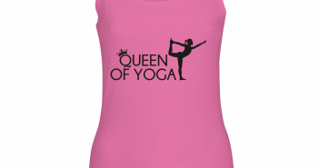 Queen of Yoga tanktop t-shirt