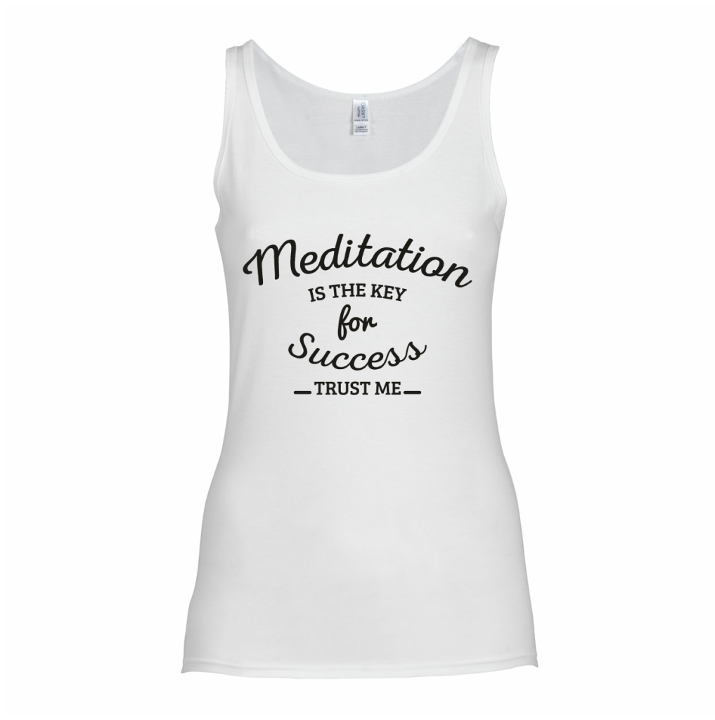 meditation is the key to succes tanktop wereld yoga dag