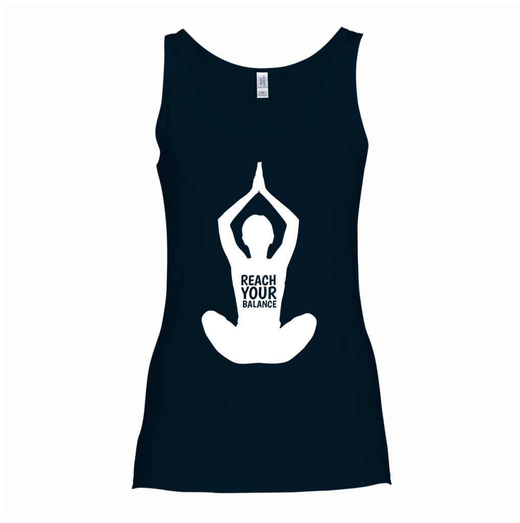 reach your balance tanktop wereld yoga dag