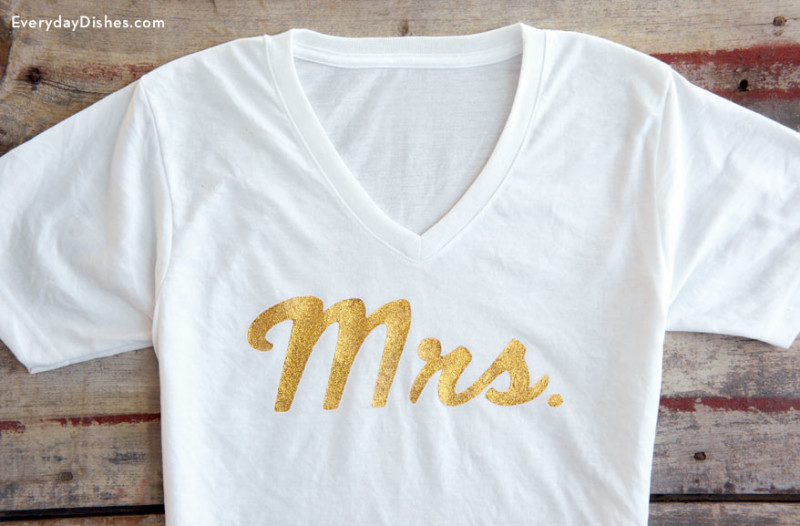 DIY Mrs. T-shirt
