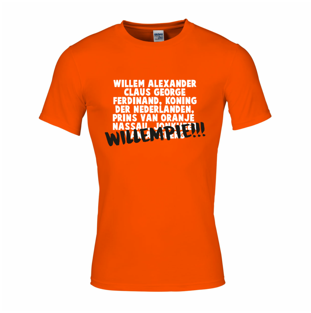 Willempie - shirt - koningsdag
