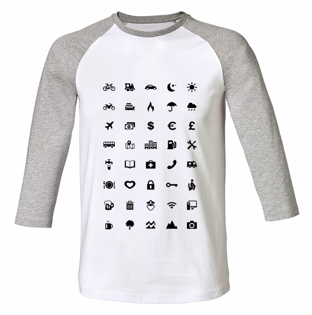 Travel shirts - Travel iconen