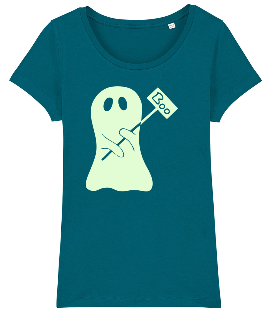 Boo! Glow in the Dark Halloween T-shirt - originele Halloween outfit