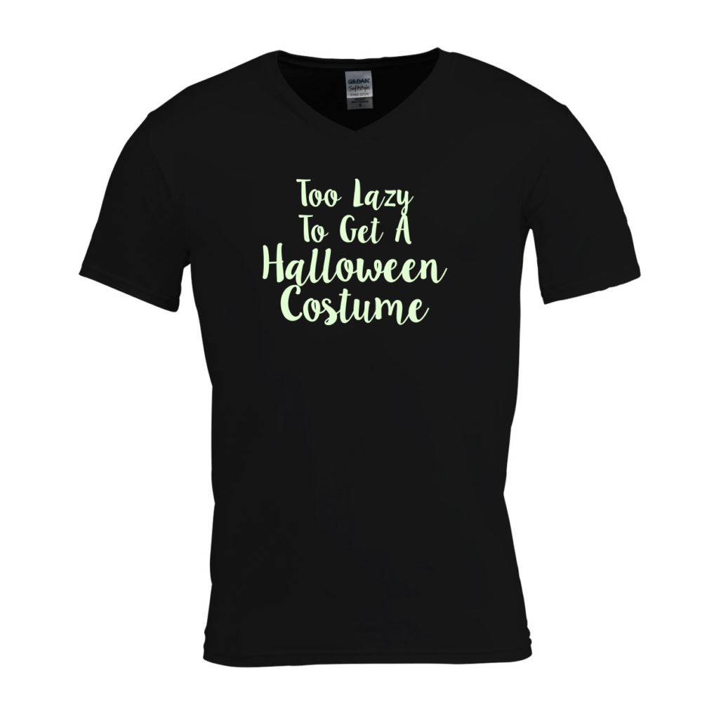 Too lazy to get a Halloween costume Glow in the Dark T-shirt - originele Halloween outfit