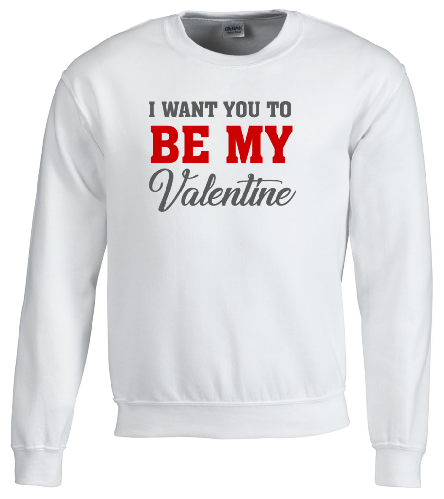 I want you to be my valentine Valentijnsdag T-shirt top 10 valentijn cadeaus Digitransfer