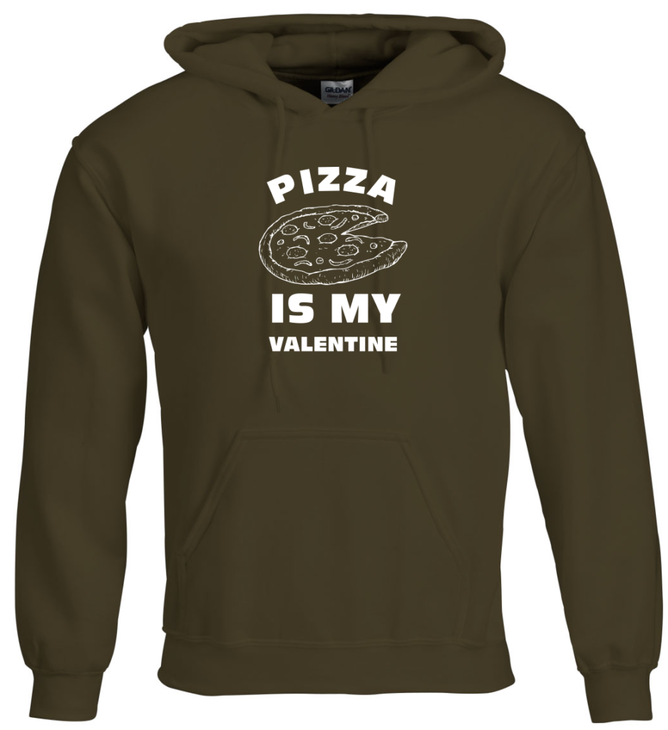 Pizza is my valentine Valentijnsdag T-shirt top 10 valentijn cadeaus Digitransfer