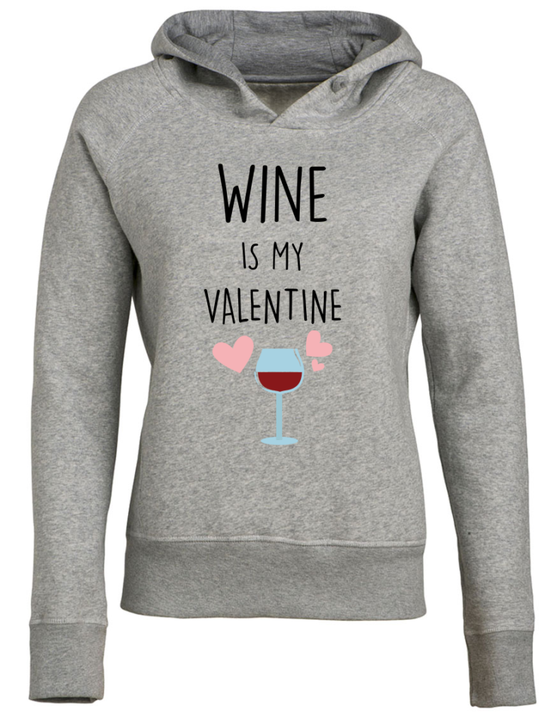 Wine is my valentine Valentijnsdag T-shirt top 10 valentijn cadeaus Digitransfer
