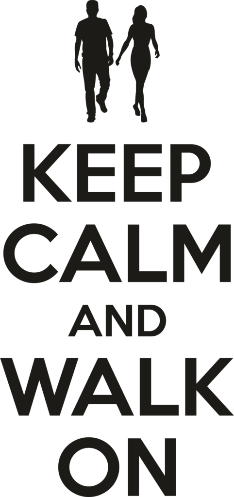 Keep calm and walk on - Vierdaagse t-shirt bedrukken