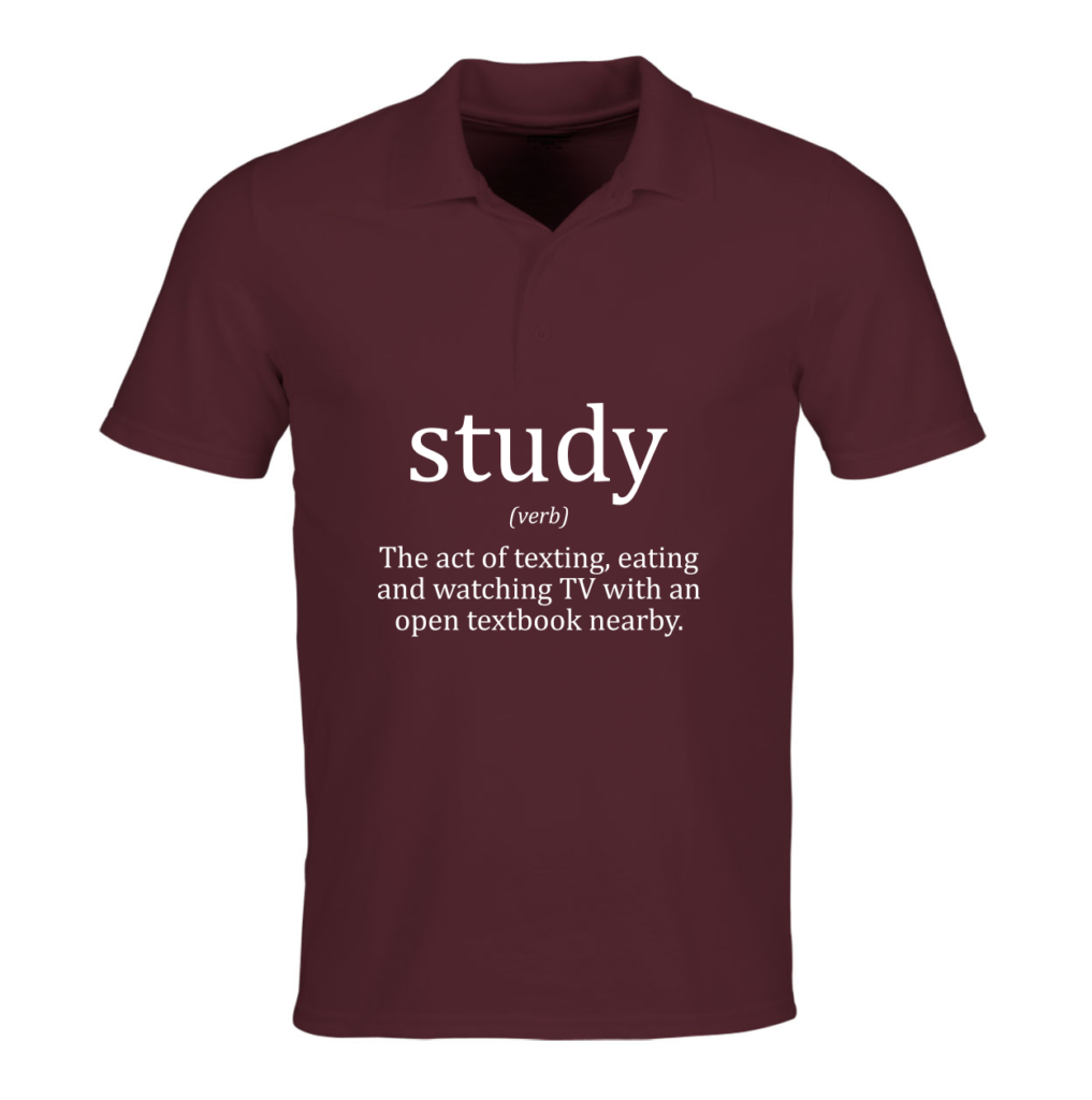 Study - grappig school T-shirt met tekst - back to school outfit 2019